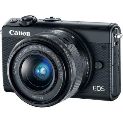 Фотоапарат Canon EOS M100 тяло + Обектив Canon EF-M 15-45mm f/3.5-6.3 IS STM Black + Памет SDHC Lexar Professional 633x (95MB/s) 32GB Class 10 (U1)