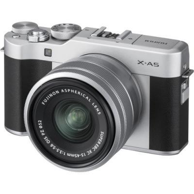 Фотоапарат Fujifilm X-A5 Silver + Обектив Fujinon XC 15-45mm f/3.5-5.6 OIS PZ