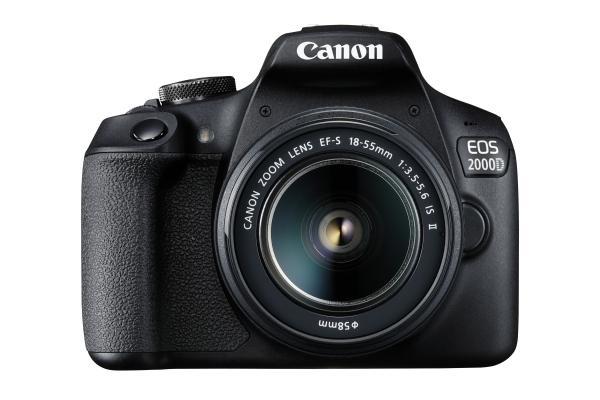 Фотоапарат Canon EOS 2000D тяло + Обектив Canon EF-s 18-55mm f/3.5-5.6 IS II + Памет SDHC Toshiba EXCERIA 32GB (Class 10)