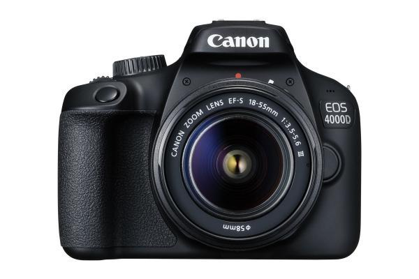 Фотоапарат Canon EOS 4000D тяло + Обектив Canon EF-s 18-55mm f/3.5-5.6 III + Обектив Canon EF 50mm f/1.8 STM