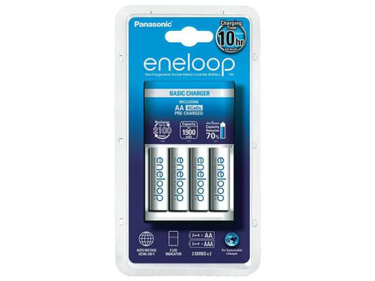 Зарядно устройство Panasonic Eneloop с батерии AA 1900mAh (LR06) 4бр