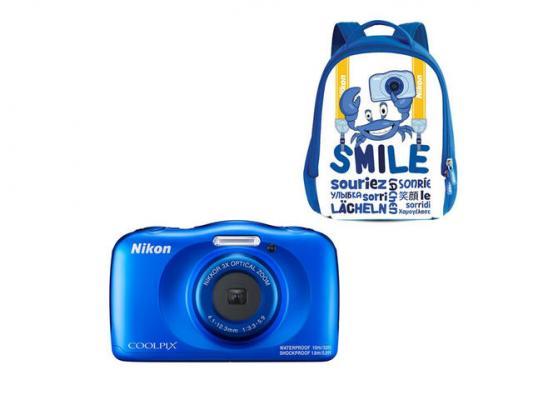 Фотоапарат Nikon Coolpix W150 Blue + Раничка