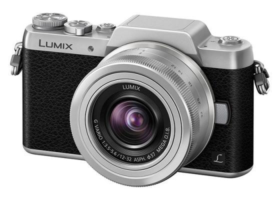 Фотоапарат Panasonic GF7 (Black/Silver) + обектив Panasonic Lumix G 12-32mm f/3.5-5.6 MEGA OIS (silver)