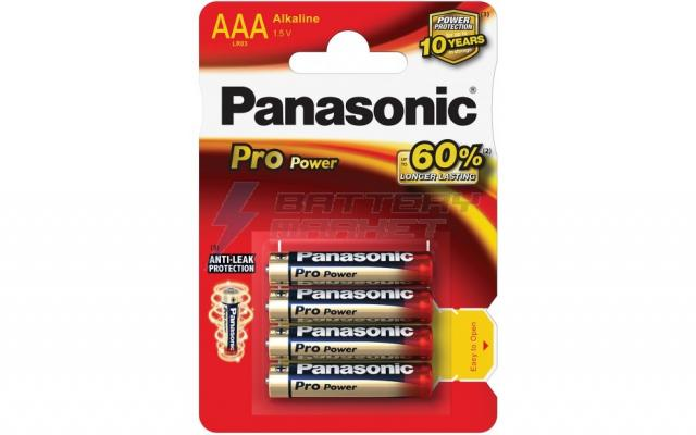 Алкални батерии AAА Panasonic Pro Power LR03-4бр