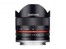 Обектив Samyang 8mm f/2.8 UMC Fish-eye II за Canon M-mount (черен)