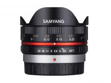 Обектив Samyang 7.5mm f/3.5 Fisheye за Micro 4/3 Black