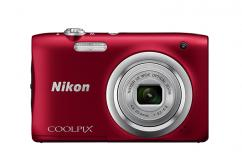 Фотоапарат Nikon Coolpix A100 Red + 16GB SD карта + Калъф Case Logic PSL-16