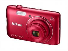 Фотоапарат Nikon Coolpix A300 Red + 16GB SD карта + Калъф Case Logic PSL-16