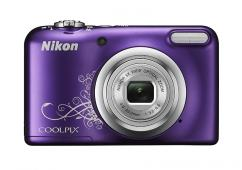 Фотоапарат Nikon Coolpix A10 Purple Lineart + 4GB SD карта + Зарядно усторйство GP + 2 бр. AA x 2100mAh батерии