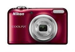 Фотоапарат Nikon Coolpix A10 Red + 4GB SD карта + Зарядно усторйство GP + 2 бр. AA x 2100mAh батерии