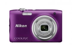 Фотоапарат Nikon Coolpix A100 Purple + 16GB SD карта + Калъф Case Logic PSL-16