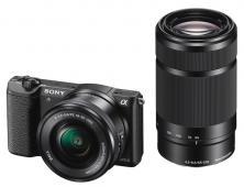 Фотоапарат Sony Alpha A5100 Black Kit (16-50mm OSS + 55-210 OSS)
