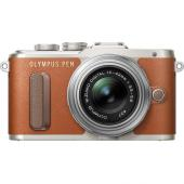Фотоапарат Olympus E-PL8 Brown тяло + Обектив Olympus M.Zuiko Digital ED 14-42mm f/3.5-5.6 Silver