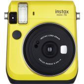 Моментален фотоапарат Fujifilm Instax mini 70 Yellow + Моментален филм Fuji Instax mini Rainbow (10л.)