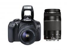 Фотоапарат Canon EOS 1300D тяло + Обектив Canon EF-s 18-55mm f/3.5-5.6 III + Обектив Canon EF 75-300mm f/4-5.6 III