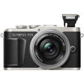 Фотоапарат Olympus E-PL9 Black тяло + Обектив Olympus ZD Micro 14-42mm f/3.5-5.6 EZ ED MSC  + Обектив Olympus M.Zuiko Digital 45mm f/1.8 Black