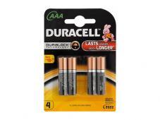 Алкални батерии AAA DURACELL Duralock (LR03) 4бр