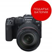 Фотоапарат Canon EOS RP тяло + Обектив Canon RF 24-105mm f/4L IS USM + Адаптер Canon EF-EOS R + Батерия Li-Ion Canon LP-E17
