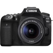 Фотоапарат Canon EOS 90D тяло + Обектив Canon EF-S 18-55mm f3.5-5.6 IS STM + Обектив Tokina atx-i 100mm f/2.8 FF Macro за Canon