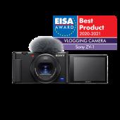 Фотоапарат за влогинг Sony ZV-1 + Батерия Li-Ion Sony NP-BX1