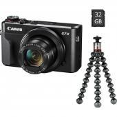 Фотоапарат Canon PowerShot G7X Mark II Vlogger Kit + Памет SDXC SanDisk Extreme 64GB UHS-I U3 C10 V30 150MB/s