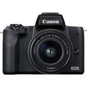 Фотоапарат Canon EOS M50 Mark II Black Тяло + Обектив Canon EF-M 15-45mm f/3.5-6.3 IS STM + Обектив Canon EF-M 55-200mm f/4.5-6.3 IS STM + Памет SDXC SanDisk Extreme 64GB UHS-I U3 C10 V30 150MB/s