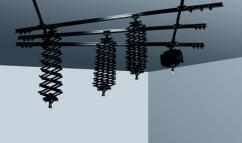 Релсова система Dynaphos, 3 напречни, 2 надлъжни 4 пантографа