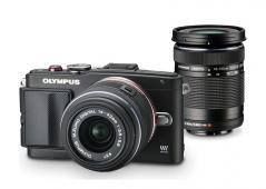 Фотоапарат Olympus E-PL6 Pen (Black) kit 14-42mm II R (Black) + 40-150mm ED R (Black)