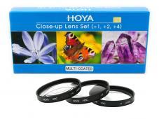Комплект макро лещи Hoya HMC +1, +2, +4D 58mm