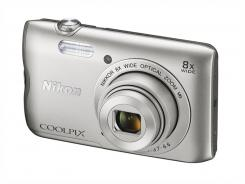 Фотоапарат Nikon Coolpix A300 Silver + 16GB SD карта