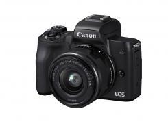 Фотоапарат Canon EOS M50 Black Тяло + Обектив Canon EF-M 15-45mm f/3.5-6.3 IS STM